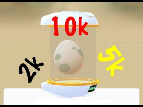 Pokemon GO 7 SURPRISE EGGS 10k, 5k, 2k