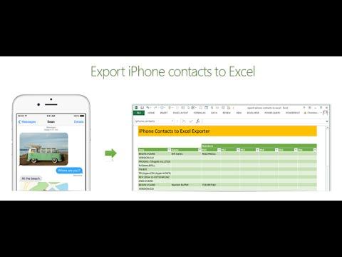 How to export iPhone contacts to Excel | ExcelTutorials