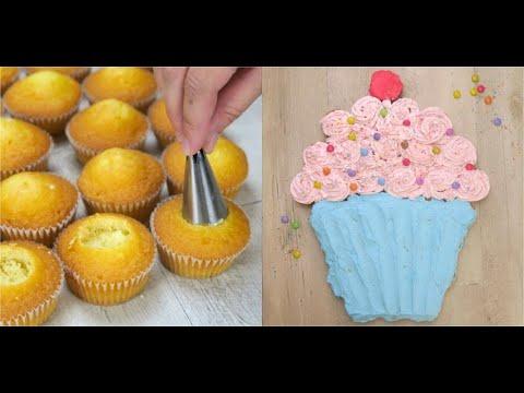Cupcake cake: the perfect idea to make a unique birthday cake!