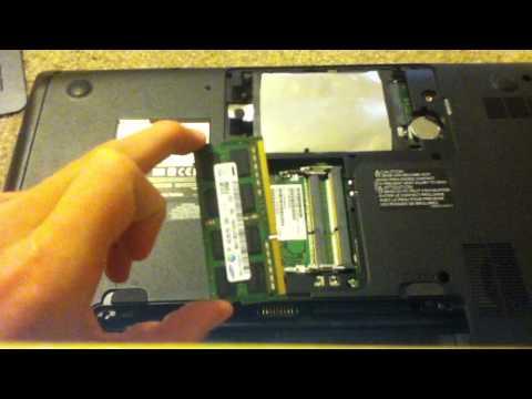 How to install RAM on a Toshiba Satellite laptop