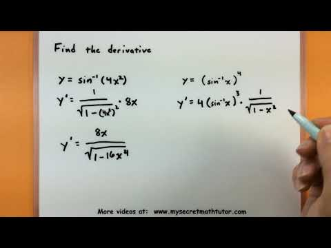 Calculus - Find the derivative of inverse trigonometric functions