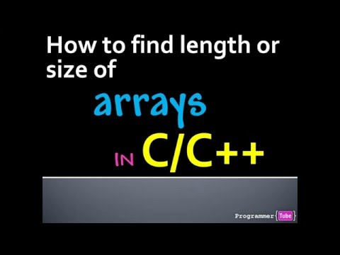 How to determine or get array length (size) in C/C++