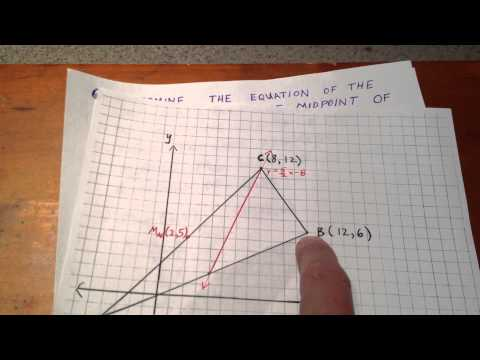 Determine the Centroid of a Triangle