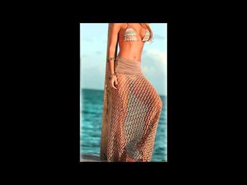 Finejo Women Mesh Crochet Bikini Swimwear Cover Up Beachwear Skirt Dress Swimsuit