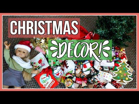 UNBOXING CHRISTMAS DECOR! | American Girl Doll Christmas Decorations 2017!