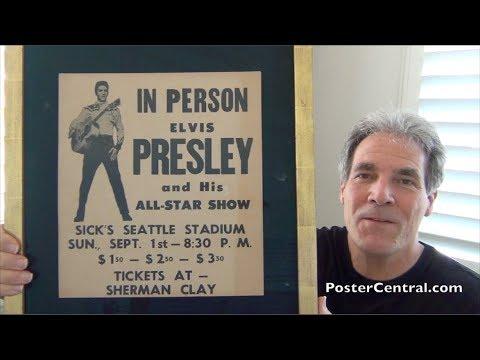 Elvis Presley 1957 Concert Poster – Sick's Seattle Stadium