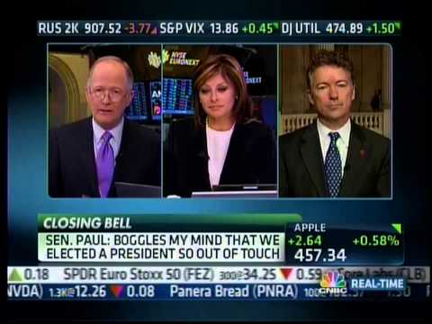 Sen. Rand Paul on CNBC's Closing Bell w/ Maria Bartiromo discussing 'Audit the Fed' - 2/7/13