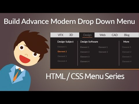 HTML & CSS : Build Advance Modern Drop Down Menu