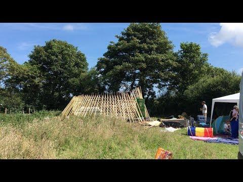 Yurt Erection - Off grid yurt goes up!