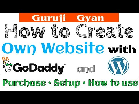 Hindi | How to Create website with GoDaddy / WordPress | Purchase | Setup | How to use |Step by step