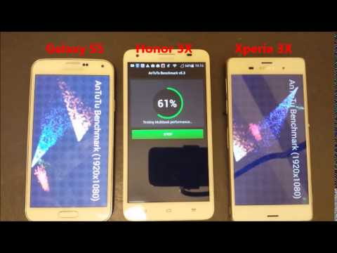 Galaxy S5 vs Xperia Z3 vs Honor 3X: Antutu Benchmark Test:  Performance Comparsion