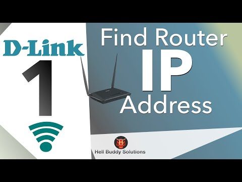 Set Up Router (D-link) Wi-Fi password Part 1 -- Find IP Address