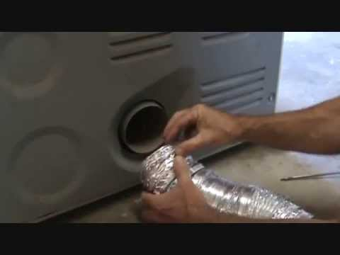 How to install a dryer vent flexible pipe