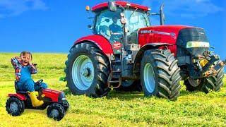 Histoires de fermes, de tracteurs et d'animaux avec des jouets pour enfants - Tractor toys for kids