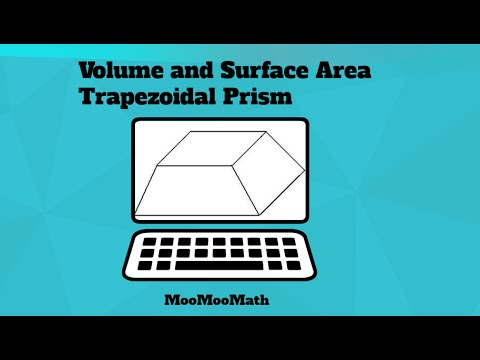 Trapezoidal Prism-Surface Area and Volume