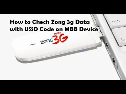 How to Check zong 3g Data