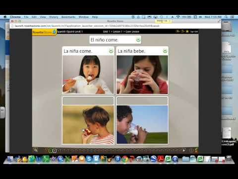 How to use Rosetta Stone Video