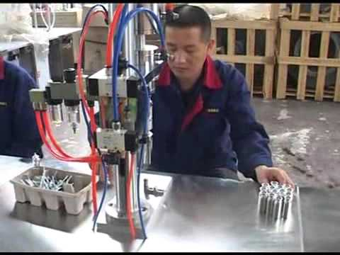 Semiautomatic Small Canister Filling Machine