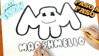 Drawing Marshmello Dibujando A Marshmello