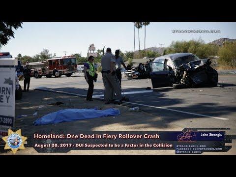Homeland: One Killed in Fiery Rollover Crash