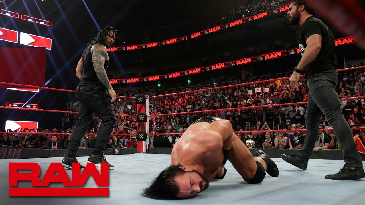 Roman Reigns and Seth Rollins save Dean Ambrose from 4-on-1 beatdown: Raw, Feb. 25, 2019