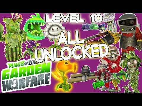 Plants vs. Zombies: All Level 10 Characters Unlocked! Gardens & Graveyards Gameplay!