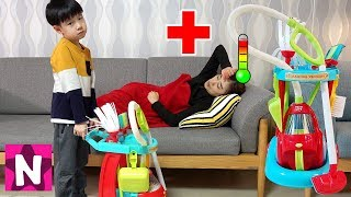 Download 엄마가 아파요! 뉴욕이의 청소놀이 장난감 세트 놀이 NY Pretend Play with Cleaning Trolley Toy Set