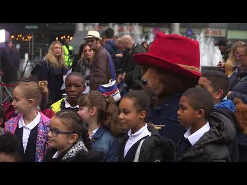 Hugh Bonneville and cast launch Paddington's Pop-up London