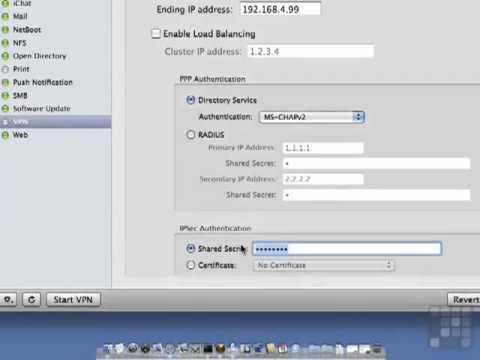 Configuring VPN - Apple Mac 10.6 Server Tutorial