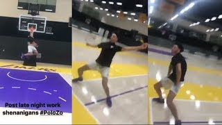 Lonzo Ball dunks and has a dance party | ESPN