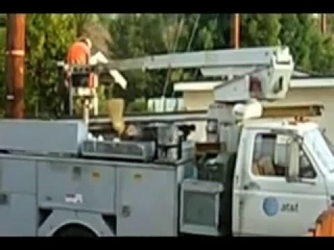 AT&T worker caught in the act