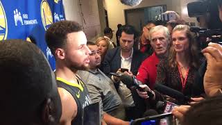 Stephen Curry Postgame Interview / GS Warriors vs Rockets / Jan 20