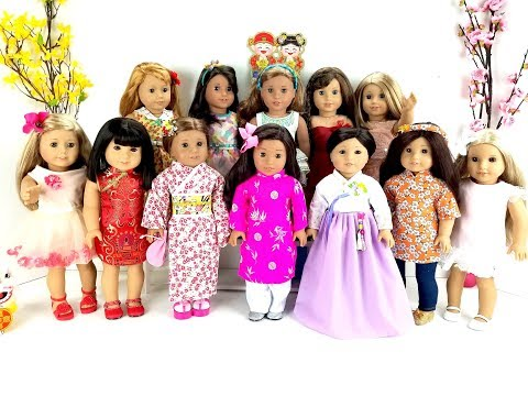 DRESSING MY AMERICAN GIRL DOLLS FOR LUNAR NEW YEAR