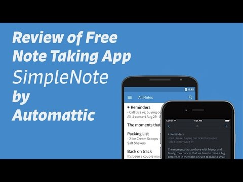 Review of FREE Note Taking App SimpleNote - Now On Win10