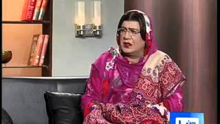 Azizi as  Firdous Ashiq Awan in Hasb e Haal | Dunya News