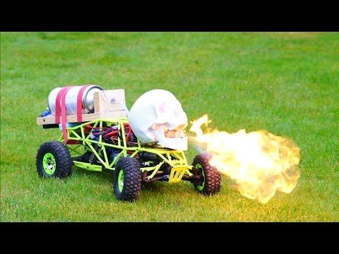 DIY Fire Breathing Halloween Skull - How to Make a Flamethrower
