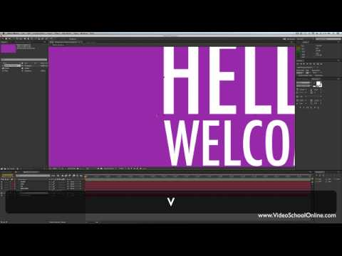 After Effects Tutorial - Basic Motion Graphics & Kinetic Typography | Video School Online