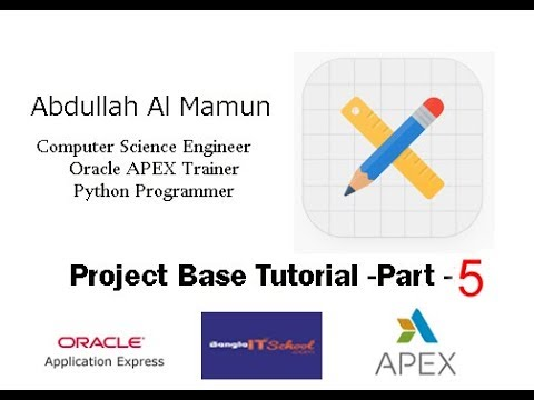 Oracle APEX - Calculation in Tabular (Project base Tutorial)