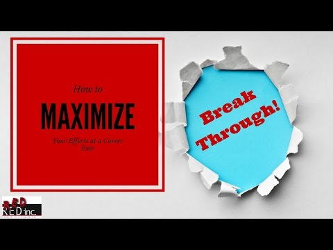 Career Fair Prep Video PACKED With Info About Maximizing Your Efforts at a Job Fair
