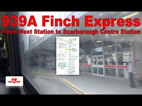 199A Finch Rocket - TTC 2008 Orion VII NG HEV 1286 (Finch West Stn to Scarborough Centre Station)