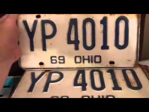 Ohio license plate collection