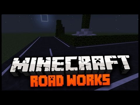 Minecraft Mod Spotlight: ROAD WORKS MOD! 1.9 - ROADS IN MINECRAFT!