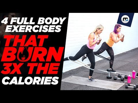 4 FULL BODY EXERCISES THAT BURN 3X THE FAT 😱(At Home Workout or in the Gym)