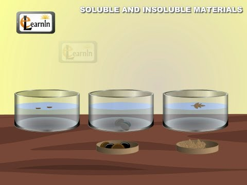 Soluble and insoluble materials - Experiment - Elementary Science