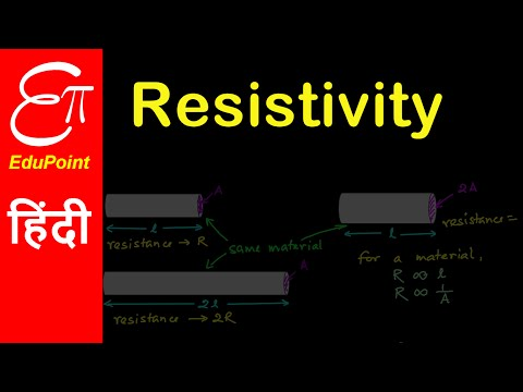 Resistivity or specific resistance of a material | in Hindi | हिंदी