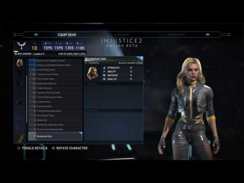 Injustice 2 Online Beta Black Canary Gear