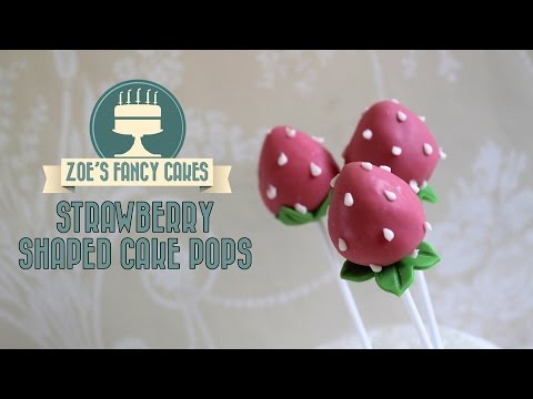 strawberry cake pops: How to make strawberry shaped cake pops cake decorating tutorials