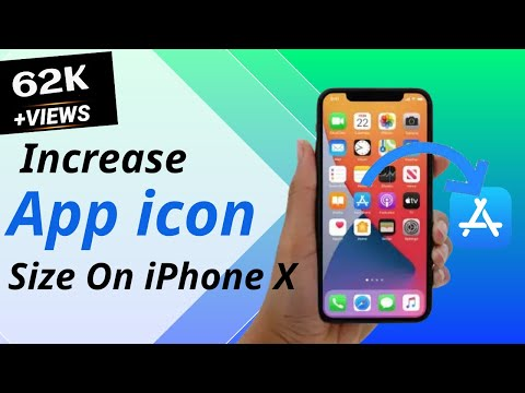 How to increase size of icons on iPhone X? Here's the way