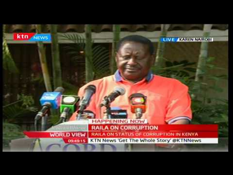 Raila: Corruption is the only 'industry' doing well in Kenya