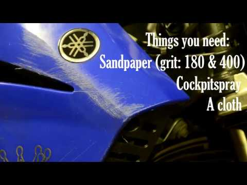 How to lightly remove scratches from motorcycle plastics